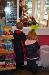 Zeke And Selah Watching the candy machine...So I thought.